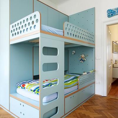 dormitorio infantil con literas