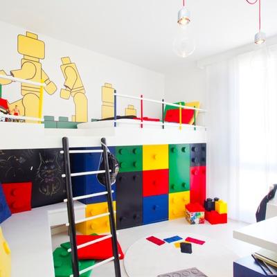Dormitorio inspirado en Lego