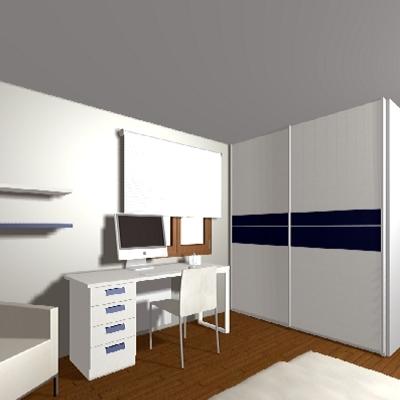 Dormitorio matrimonio + zona estudio 1
