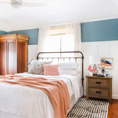 Dormitorio renovado muebles vintage