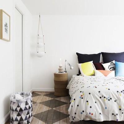 dormitorio suelo damero
