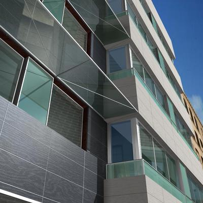 Edificio de viviendas, dos sótanos, planta baja, entresuelo para locales comerciales y 54 viviendas en Alzamora