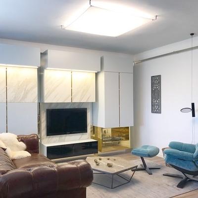 Interiorismo en salón y mueble a medida
