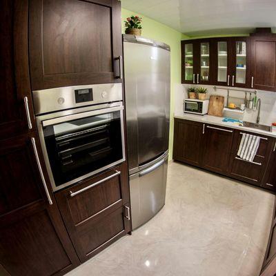 Restauración de una  cocina: muebles y encimera