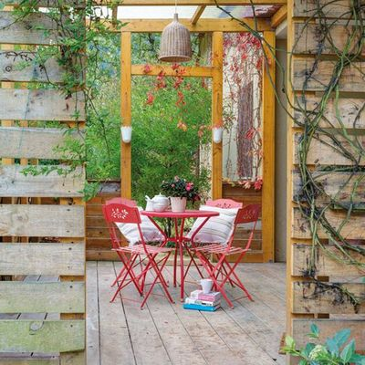 El porche cubierto