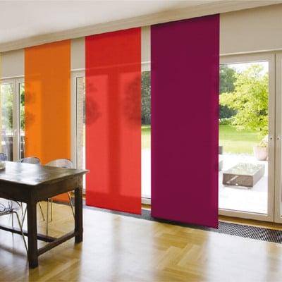 paneles japoneses de diferente color