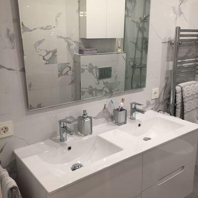 Elegante diseño de baño.