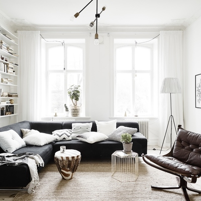 Tradición y vanguardia en este piso escandinavo