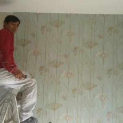 Aplicación de pintura y empapaleado  de papel tapiz