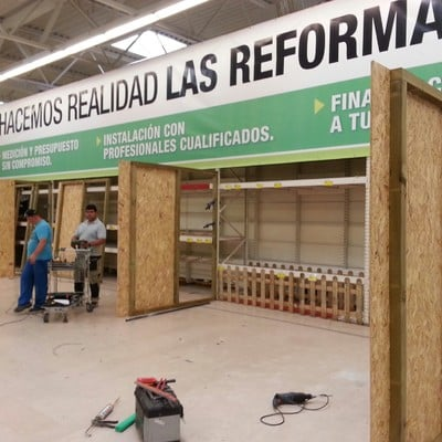Realización de la zona de reformas Leroy Merlin