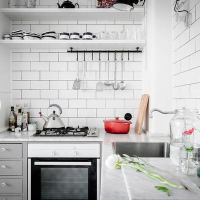 Ideas y fotos de cocinas blanca para inspirarte habitissimo - Encimeras cruz ...