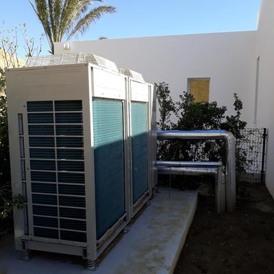 Instalación de Enfriadora de agua y Altherma