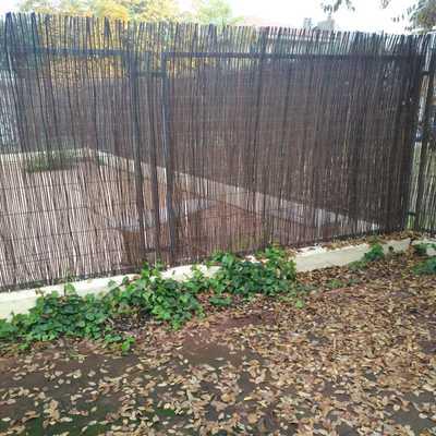 Retirada de enredadera antigua, prepración del terreno para plantación y colocación de canto marfil decorativo
