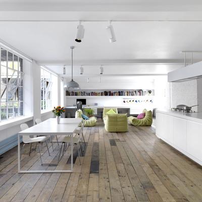 Minimalismo personalizado: una casa en un antiguo almacén