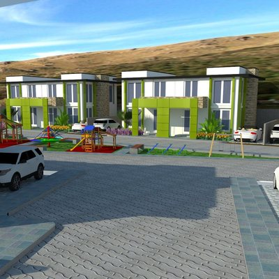 Diseño y render de town house