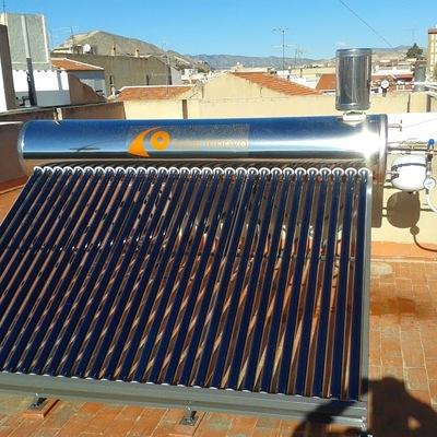 Instalacion de equipo solar por tubos de vacio