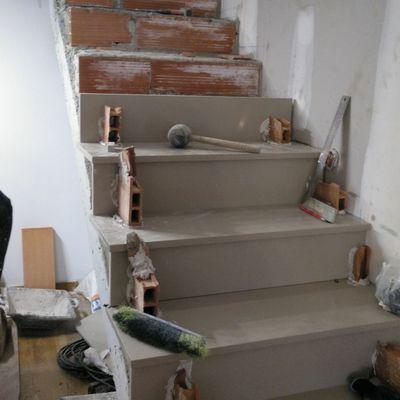 Proceso Escalera Silestone con compensado