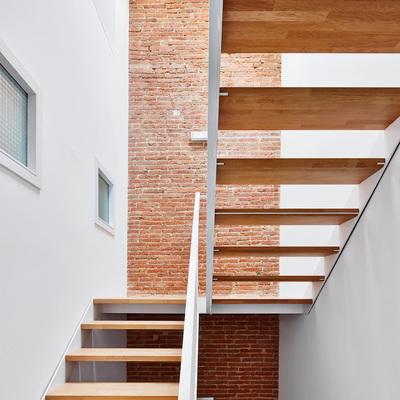 escalera con lucernario