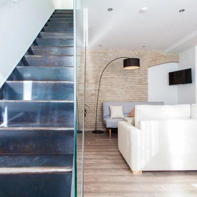 Escalera original restaurada