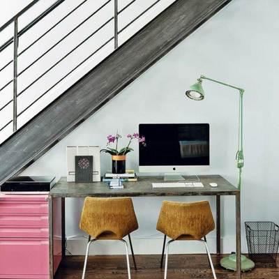escritorio despacho escalera