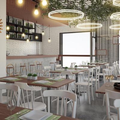 Espacio del restaurante y barra