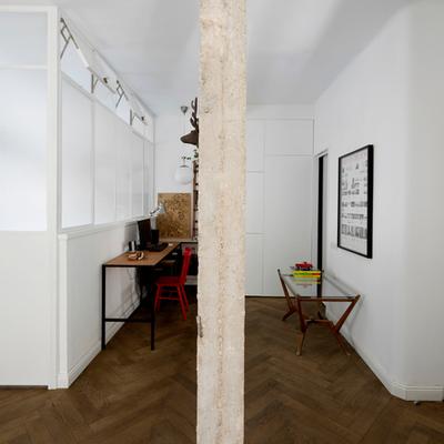 Fresco y joven, reforma para uno en 55 m²