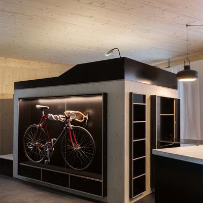 Una casa reducida al espacio mínimo