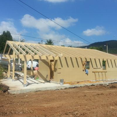 Construcción de una  casa de Madera en Asturias