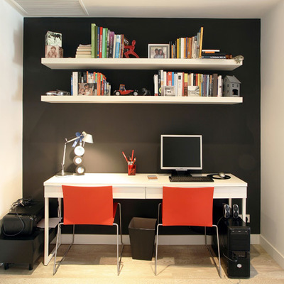 Un piso de estilo moderno en tonos grises