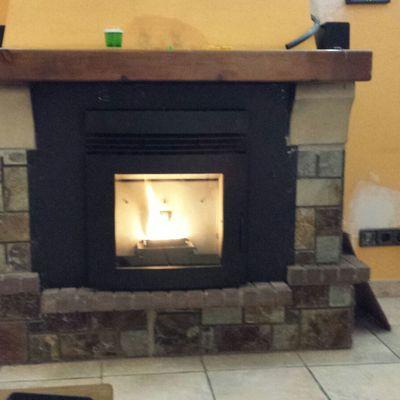 Instalación estufa pellet insertable