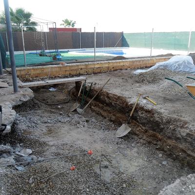 Excavación y hormigonado