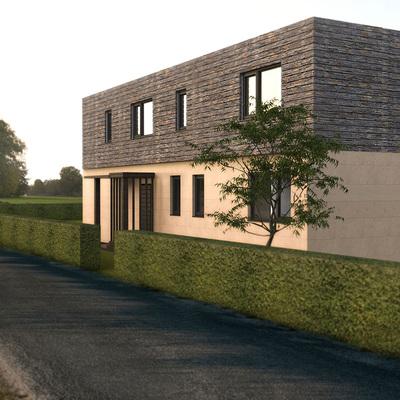 Fachada de la Casa Cube de 250 m2