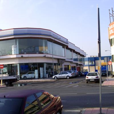 Fachada del complejo comercial