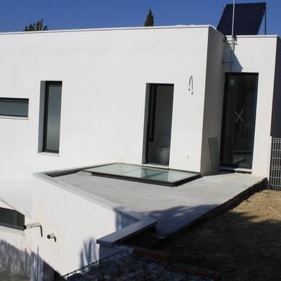Construcción de una vivienda unifamiliar de lineas puras (Las Rozas)