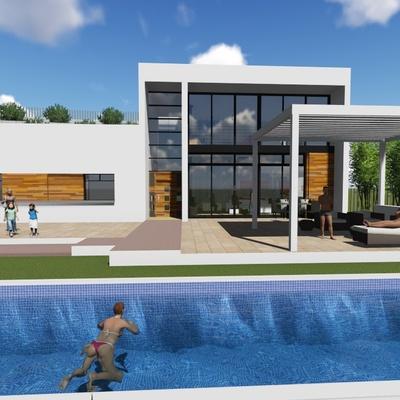 Proyecto de Vivienda Unifamiliar aislada y piscina en Pinos de Alhaurin