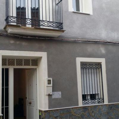 Rehabilitacion fachada casa con mortero monocapa