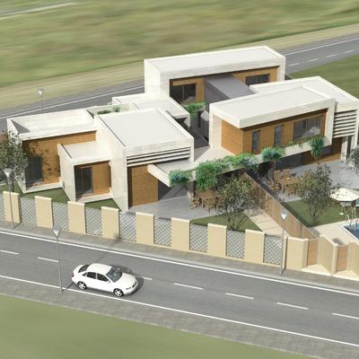 Dos viviendas unifamilares con 3 patios. Calificación energética A. En construccion