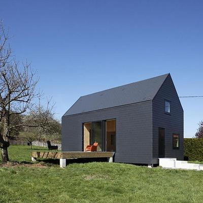 Fachada y tejado pizarra