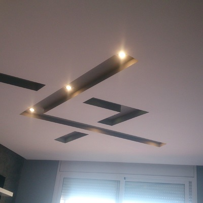 Techos de pladur con luces indirectas