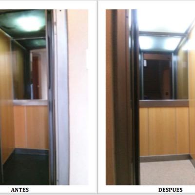 Modernización parcial de la cabina de ascensor