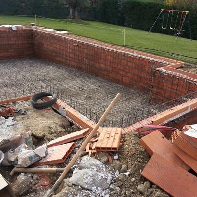 Construcción paso a paso de una piscina gunitada
