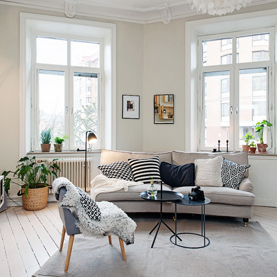 Cómo tener un salón nórdico y low cost