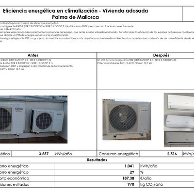 Eficiencia energética en climatización - Vivienda adosada - Palma