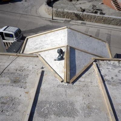 Forma de tejado con rastreles