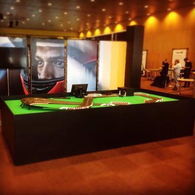 Mesa para Scalextric para el congreso SAP en el CCIB