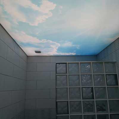Techo luminoso en baño