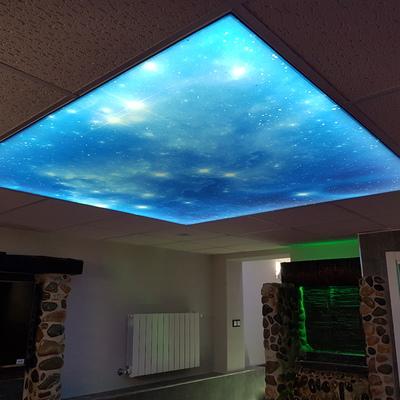 Techos tensados e iluminación LED