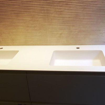 Encimera de baño en Solid Surface blanco