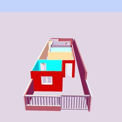 frontal de la vivienda