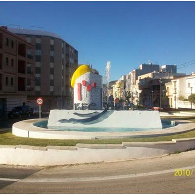 Fuente decorativa en rotonda de Torreblanca